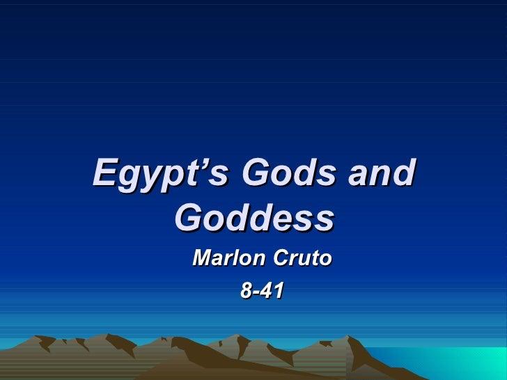 Egypt's Gods and Goddess Marlon Cruto 8-41