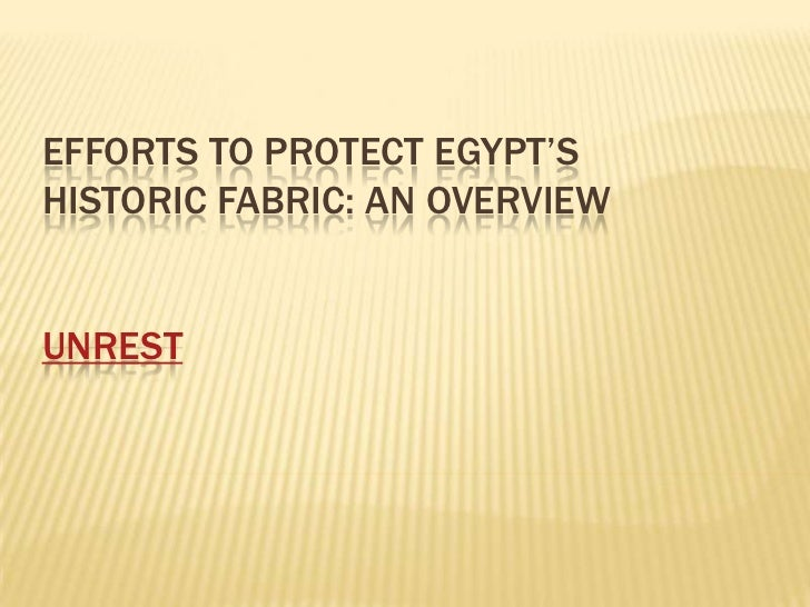 Efforts to Protect Egypt's historic Fabric: An Overviewby: Andrew McClungunrest<br />