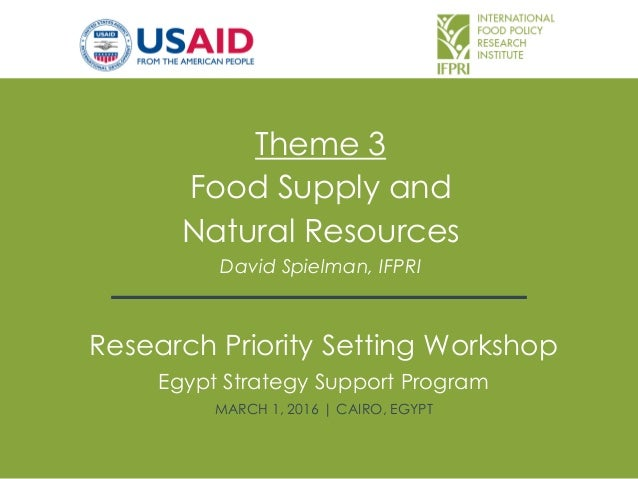 Egypt Strategy Support Program Food Supply And Natural Resources - Natural resources in egypt