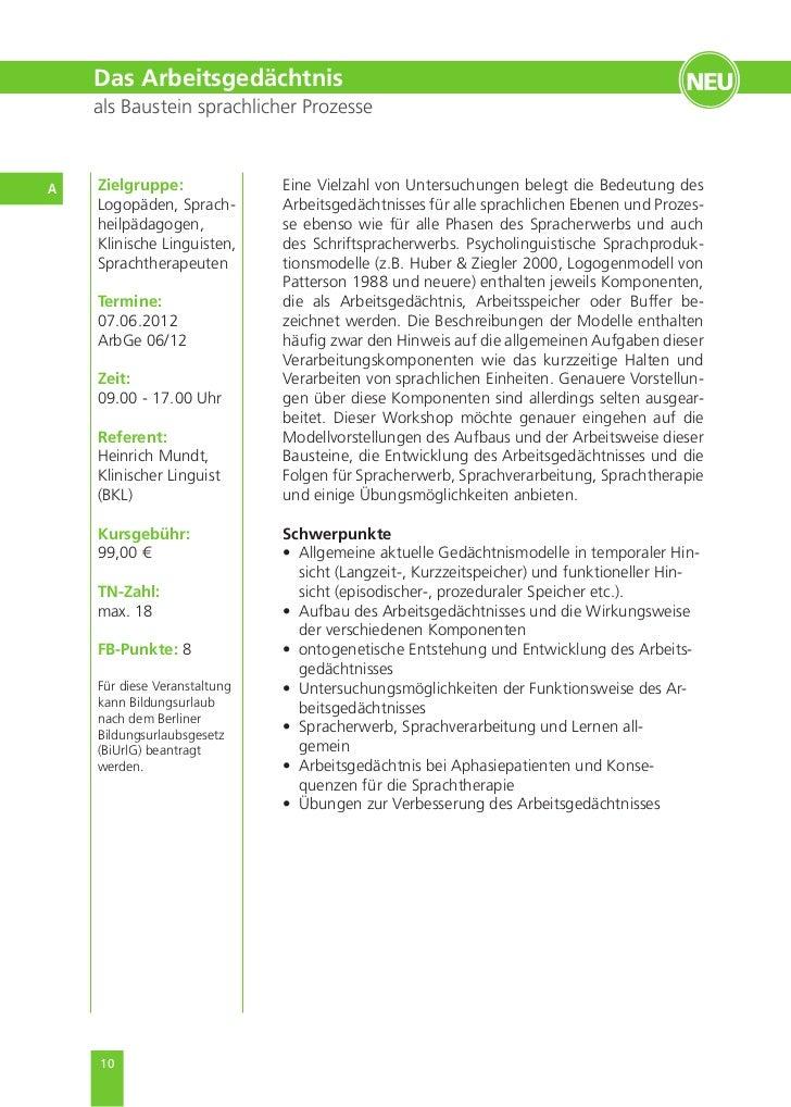 EGZB Akademie Fortbildungsprogramm 2012