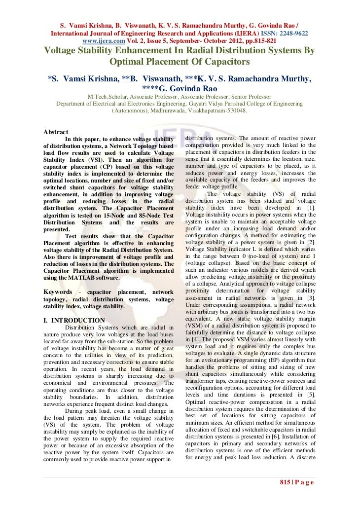 S. Vamsi Krishna, B. Viswanath, K. V. S. Ramachandra Murthy, G. Govinda Rao /   International Journal of Engineering Resea...