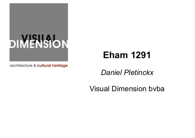 Eham 1291 Daniel Pletinckx Visual Dimension bvba