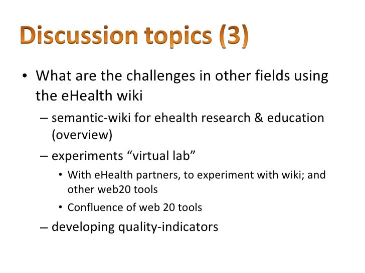 Collaborative Teaching Wiki ~ A wiki for collaborative development in ehealth