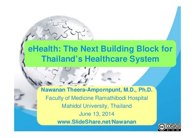 eHealth: The Next Building Block for Thailand's Healthcare System Nawanan Theera-Ampornpunt, M.D., Ph.D. Faculty of Medici...