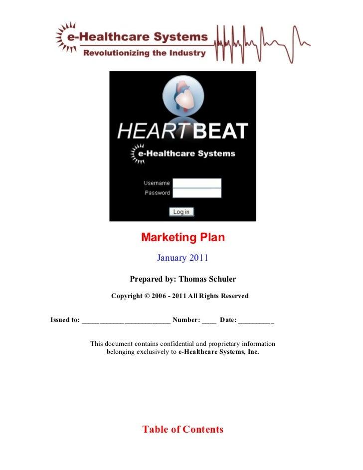 Marketing Plan                                 January 2011                        Prepared by: Thomas Schuler            ...
