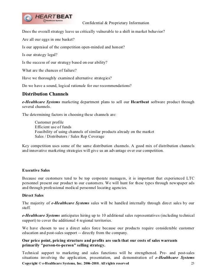E Healthcare Systems Marketing Plan Nov2010 Word Doc