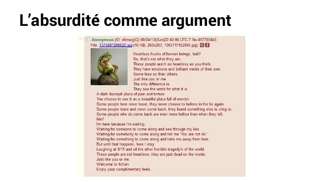 L'absurdité comme argument