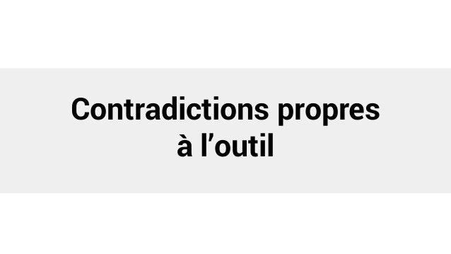 Contradictions propres à l'outil