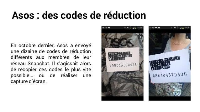 Asos : des codes de réduction En octobre dernier, Asos a envoyé une dizaine de codes de réduction différents aux membres d...