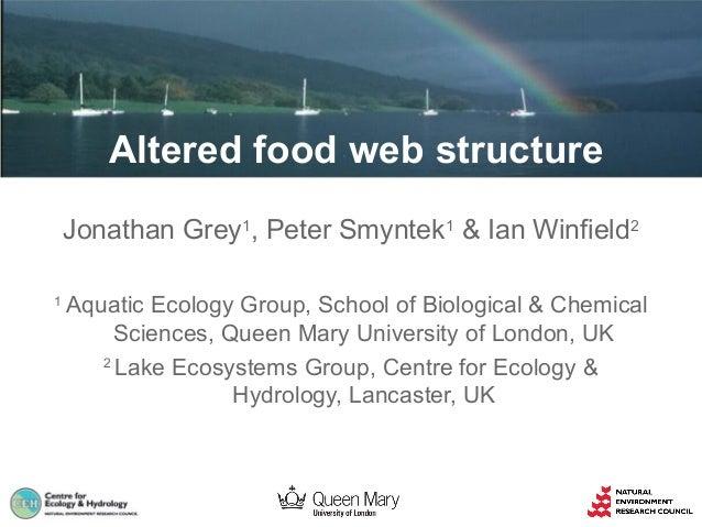 Altered food web structure Jonathan Grey1, Peter Smyntek1 & Ian Winfield2 1  Aquatic Ecology Group, School of Biological &...