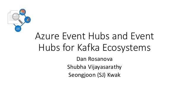 Azure Event Hubs and Event Hubs for Kafka Ecosystems Dan Rosanova Shubha Vijayasarathy Seongjoon (SJ) Kwak