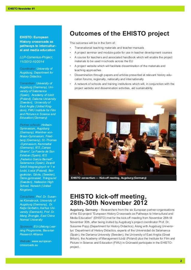 2EHISTO: EuropeanHistory crossroads aspathways to intercultur-al and media educationLLP-Comenius-Project,11/2012-10/2014Co...