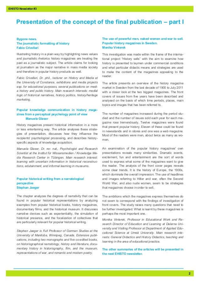 EHISTO - Third Newsletter Slide 2