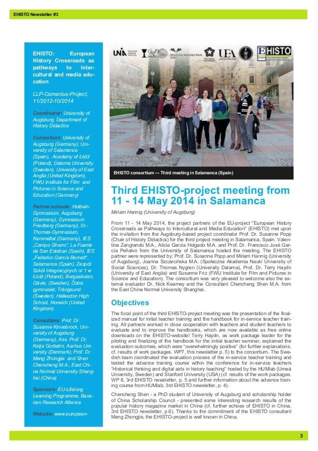 EHISTO - Third Newsletter Slide 3