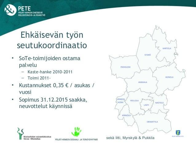 Ehkäisevän työn seutukoordinaatio, Päijät-Häme Slide 2