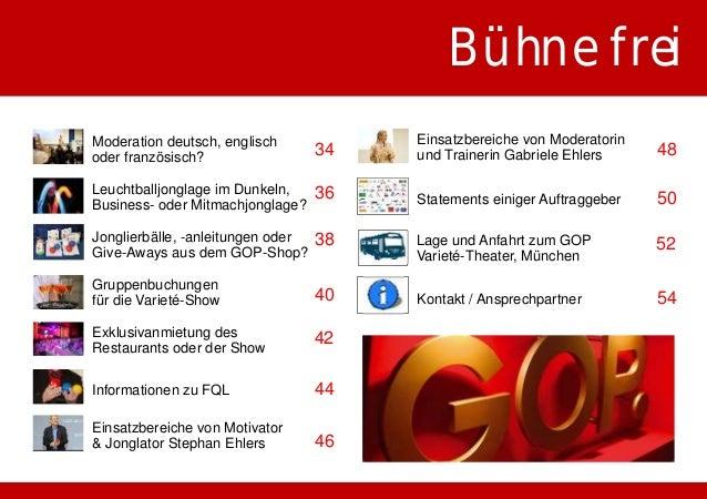 """Das GOP Varieté-Theater München - Basisinformationen  Mit der ehemaligen """"Kleinen Komödie"""" am Max II setzt die  GOPEnterta..."""