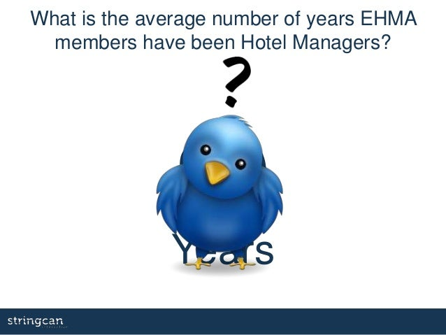 20 Years What is the average number of years EHMA members have been Hotel Managers?