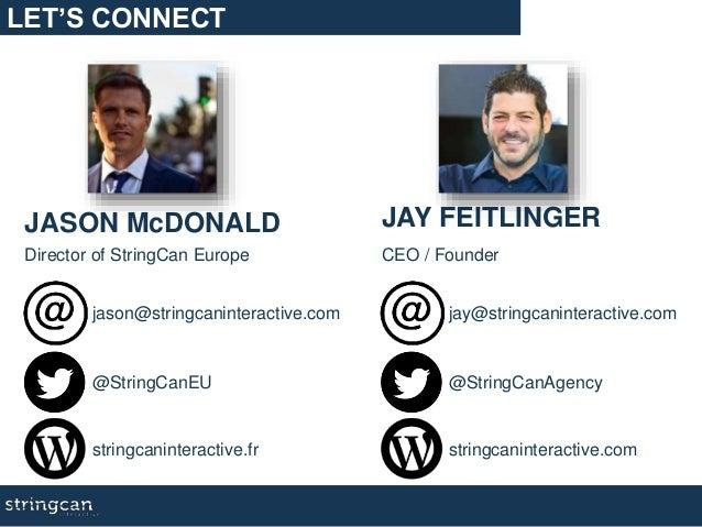 JASON McDONALD Director of StringCan Europe that win! @StringCanEU stringcaninteractive.fr jason@stringcaninteractive.com ...