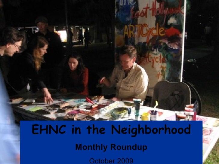 EHNC in the Neighborhood Monthly Roundup October 2009