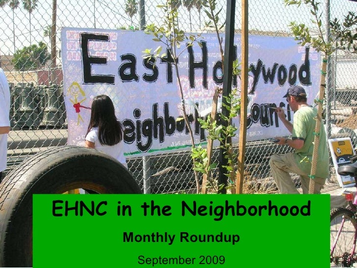 EHNC in the Neighborhood Monthly Roundup September 2009