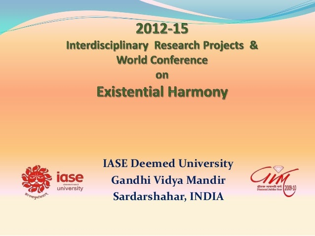 IASE Deemed University Gandhi Vidya Mandir Sardarshahar, INDIA