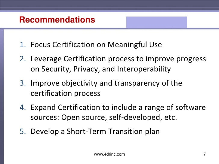 Ehr Certification Requirements For Medical Practices