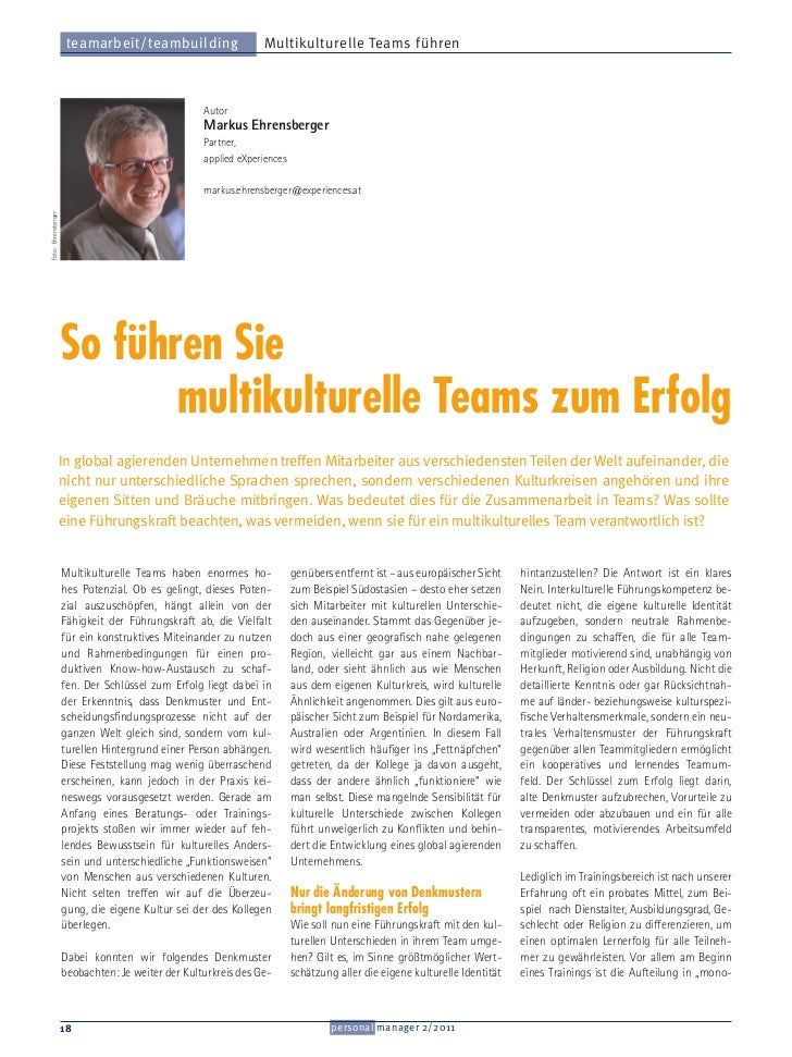 teamarbeit/teambuilding                   Multikulturelle Teams führen                                                   A...