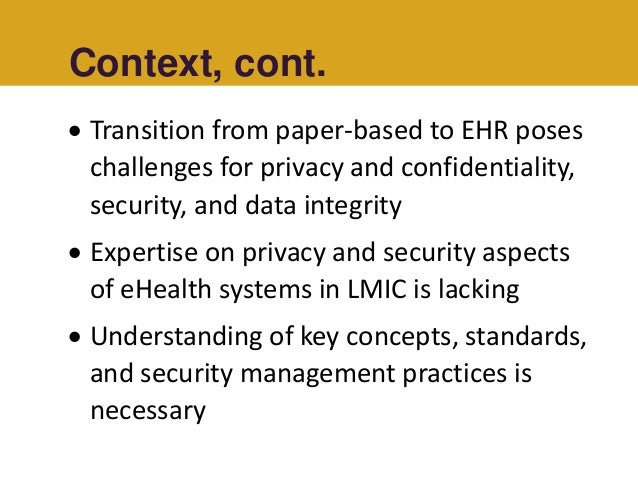 Framework of privacy and security requirements in healthcare