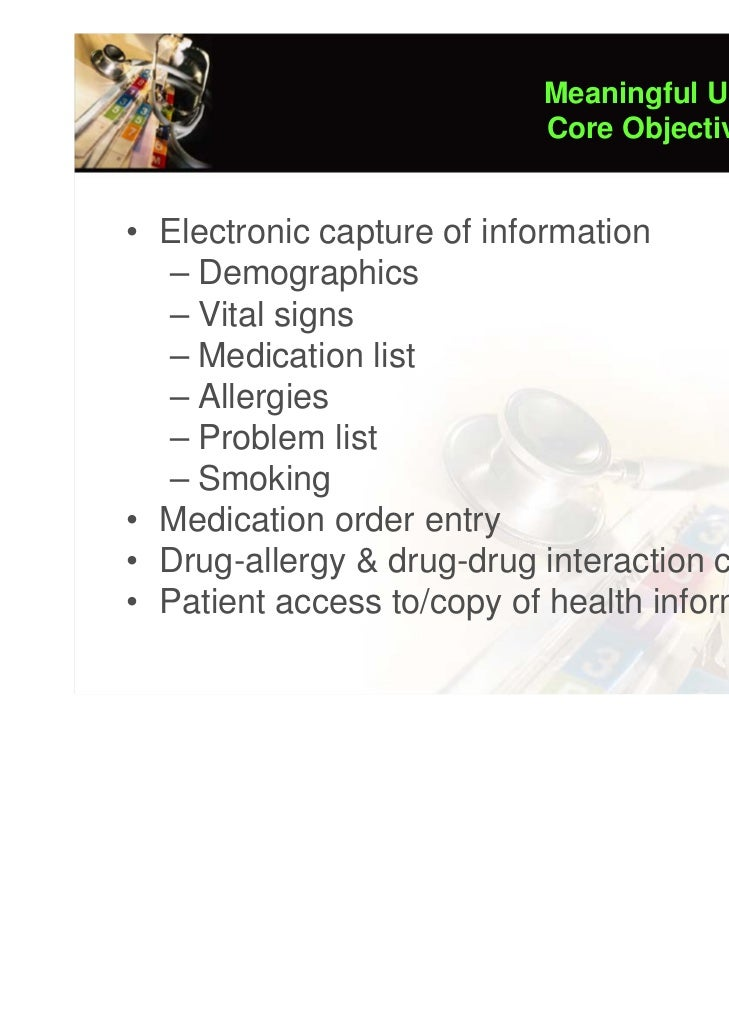 Electronic Health Records (ITCS404: IT for Healthcare ...