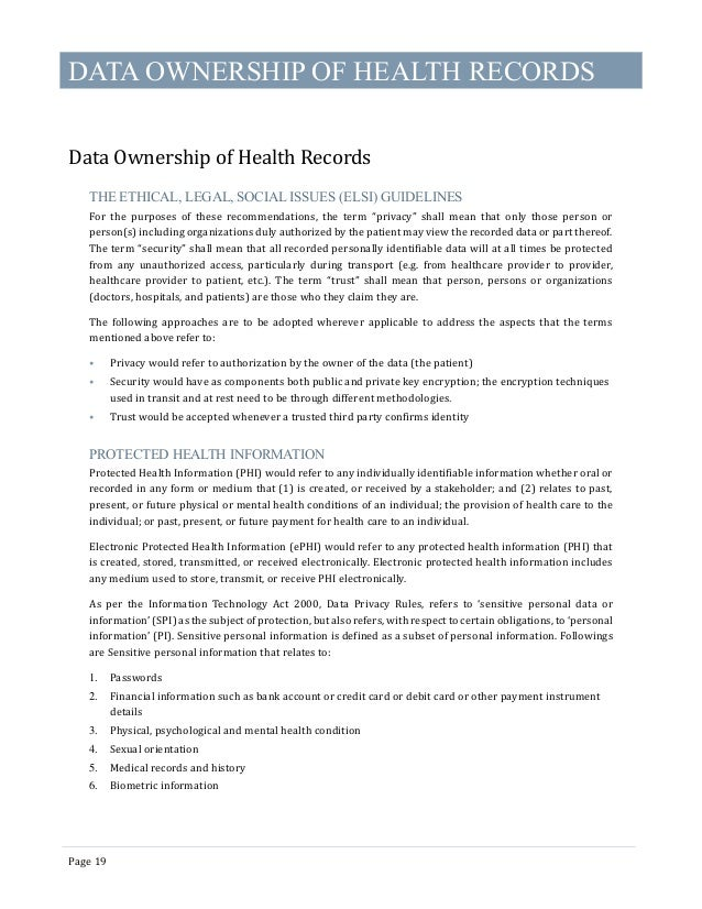 Electronic Health Records Standards 2016