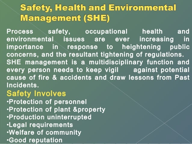 Environment, health and safety