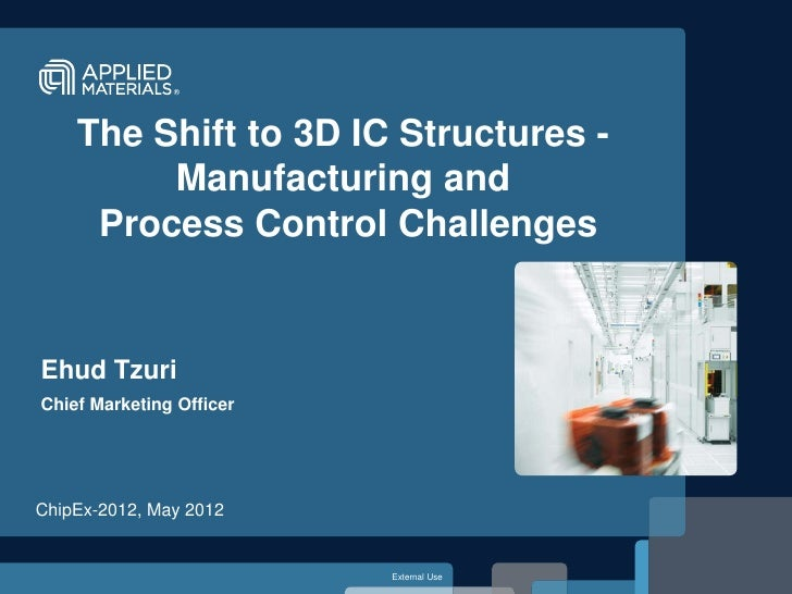 The Shift to 3D IC Structures -         Manufacturing and     Process Control ChallengesEhud TzuriChief Marketing OfficerC...
