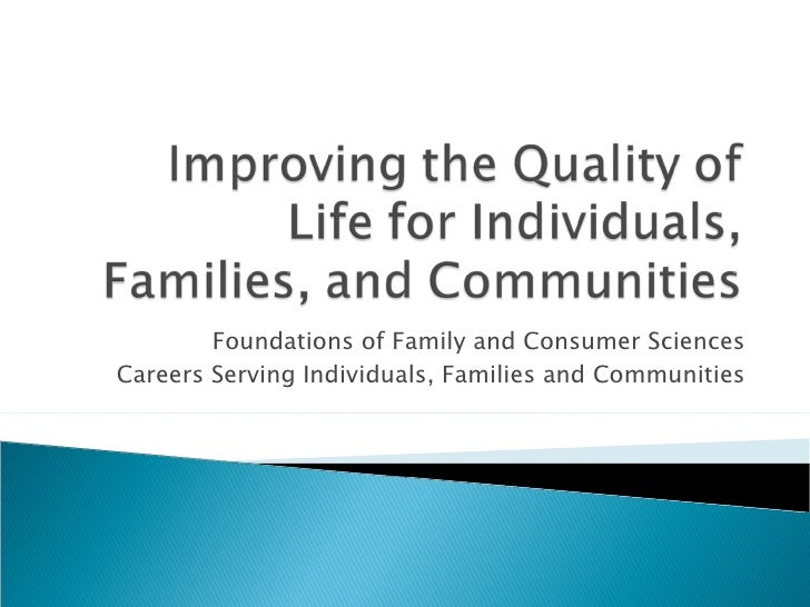 Foundations of Family and Consumer Sciences Careers Serving Individuals, Families and Communities