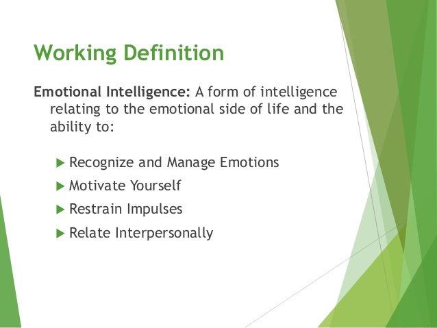 Emotional Intelligence (EI) Slide 3