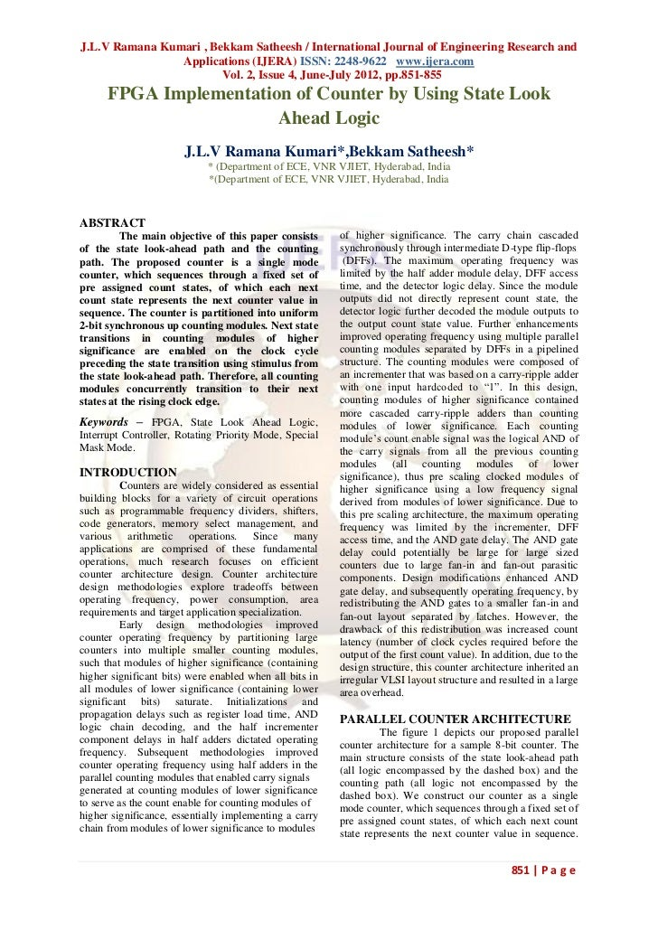 J.L.V Ramana Kumari , Bekkam Satheesh / International Journal of Engineering Research and                Applications (IJE...