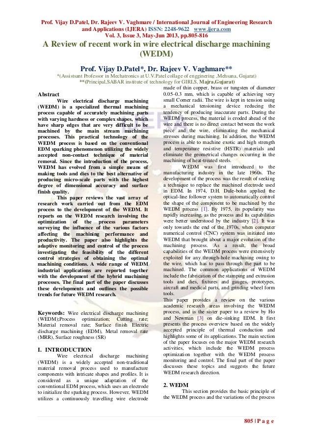 Prof. Vijay D.Patel, Dr. Rajeev V. Vaghmare / International Journal of Engineering Researchand Applications (IJERA) ISSN: ...