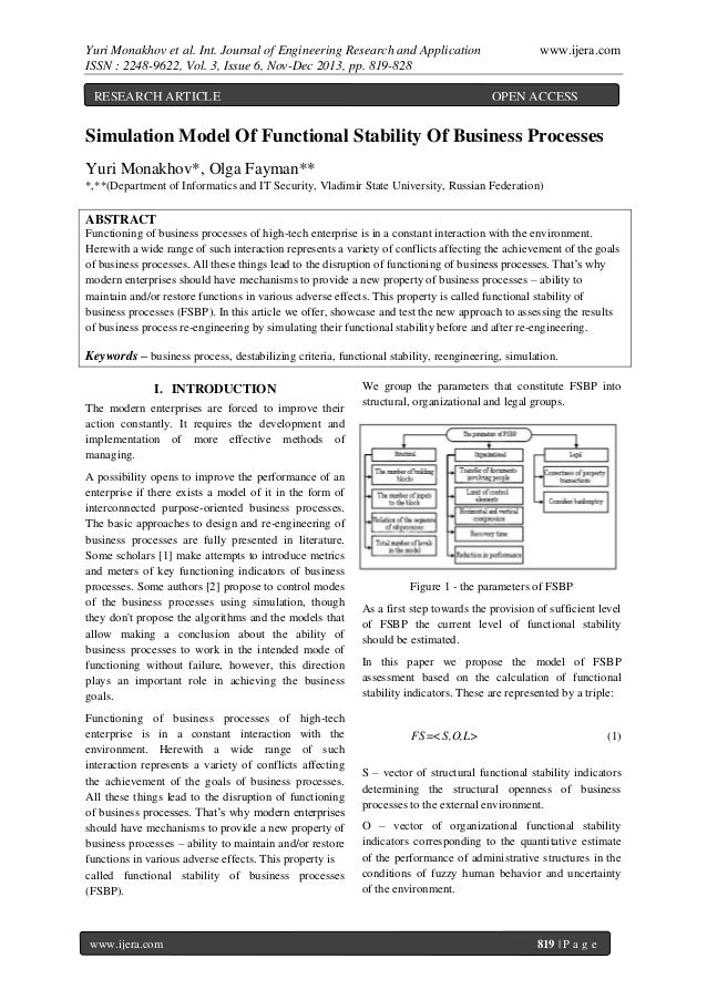Yuri Monakhov et al. Int. Journal of Engineering Research and Application ISSN : 2248-9622, Vol. 3, Issue 6, Nov-Dec 2013,...