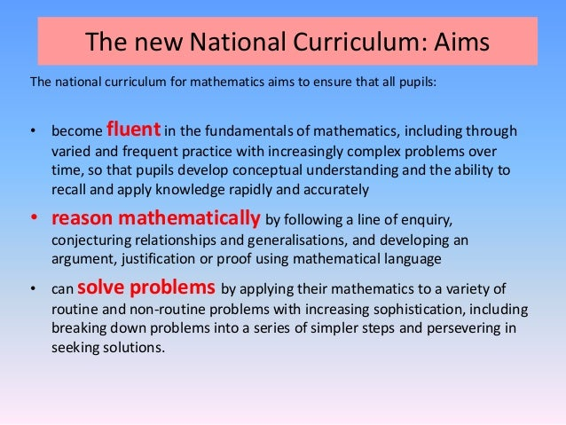 National curriculum assessments: information for parents