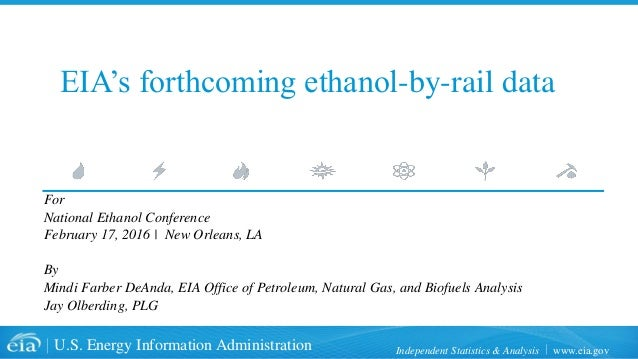 www.eia.govU.S. Energy Information Administration Independent Statistics & Analysis EIA's forthcoming ethanol-by-rail data...