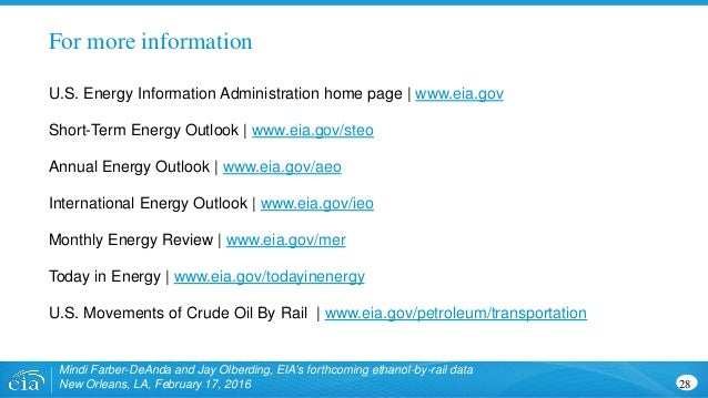 28 For more information U.S. Energy Information Administration home page   www.eia.gov Short-Term Energy Outlook   www.eia...