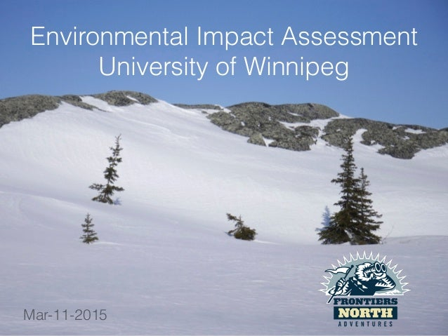 Environmental Impact Assessment University of Winnipeg Mar-11-2015