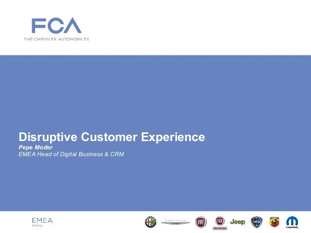 Disruptive Customer Experience Pepe Moder EMEA Head of Digital Business & CRM
