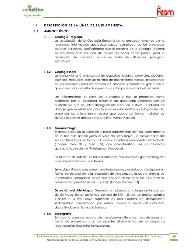 Estudio Impacto Ambiental Carretera Buenos Aires Flor Del Mayo