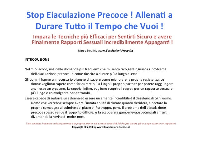 Stop Eiaculazione Precoce ! Allena3 a    Durare Tu6o il Tempo che Vuoi !          Impara le...