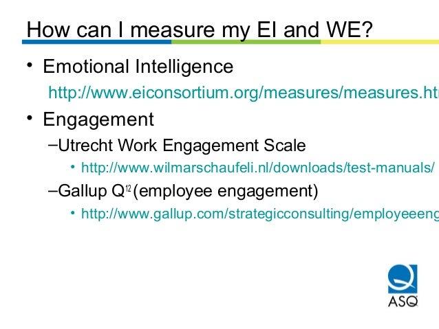 Emotional Intelligence And Work Engagement