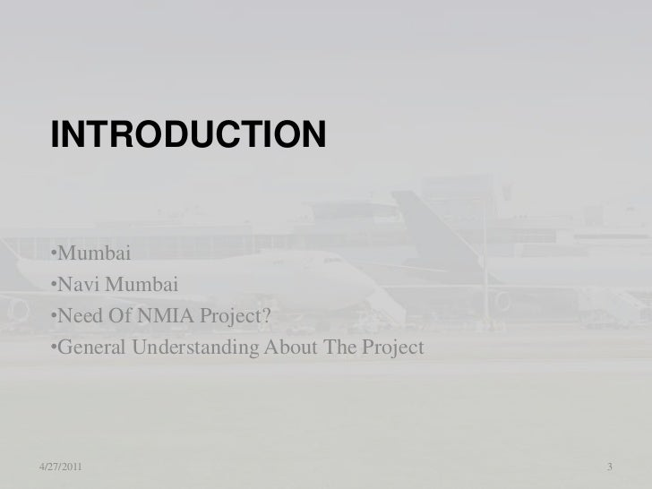 Eia Of Navi Mumbai International Airport (Nmia