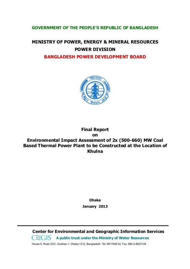 Environmental Impact Assessment (EIA) report on Rampal 1320MW coal-based power plant near the Sundarbans mangroves Slide 3