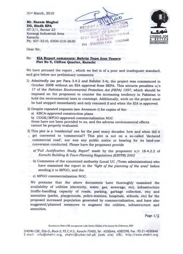 CITY DISTRICT GOVERNMENT KARACHI MASTER PLAN GROUP OF OFFICES CDGK/MPCO/COM/10/578/L Mrs. Rukhsana Abid (Owner), R/O F-8, ...