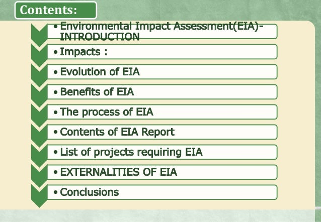 What is environmental impact assessment? What are its ...