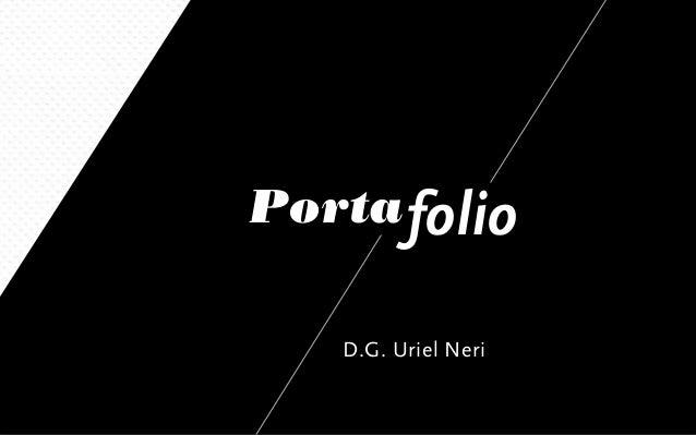 Portafolio D.G. Uriel Neri